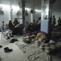 Residents rest in a shelter in Baba Amro near Homs
