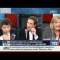 Jean-Luc Melenchon contre Marine Le Pen 14/02/2011 BFM TV