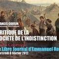 Francis Cousin: Critique de la société de l'indistinction (Le Libre Journal d'Emmanuel Ratier, Radio Courtoisie)