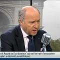 Fabius  chez Bourdin: La réponse contre la Syrie sera «massive et foudroyante»
