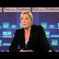 Marine Le Pen : «Face aux Chrétiens» sur KTO Tv – 1er novembre 2012