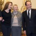 François Hollande recevant Florence Cassez à l'Elysée
