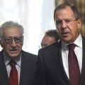 Lakhdar Brahimi et Serguei Lavrov à Moscou