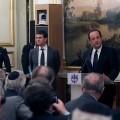 François Hollande recevant les organisations communautaires juives américaines à l'Elysée