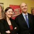Karine Berger et Pierre Moscovici