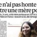 Une fausse mère porteuse à la une du Parisien...