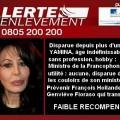 Alerte enlèvement de Yamina Benguigui