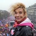 Contrairement à ce qu'elle semble croire, Frigid Barjot n'est pas la patronne de La Manif pour Tous