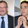 Jean-Louis Costes de l'UMP et Etienne Bousquet-Cassagne du FN..