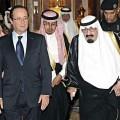 François Hollande et le roi Abdallah d'Arabie saoudite