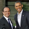 Obama et Hollande, ou le maitre et son caniche