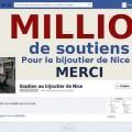 Soutien au bijoutier de Nice, Facebook est en feu