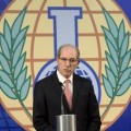Le directeur de l'Organisation pour l'interdiction des armes chimiques, Ahmet Uzumcu, à La Haye le 9 octobre
