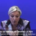 Conférence de presse de Marine Le Pen (25 octobre 2013)