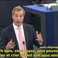 Nigel Farage parle de la montée de l'euroscepticisme au parlement européen (octobre 2013)