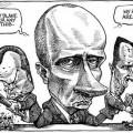 Une caricature toute en nuances et en honnêteté intellectuelle parmi d'autres de Vladimir Poutine...