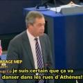 Nigel Farage à Antonis Samaras : « Vous êtes une marionnette de Goldman Sachs ! » (15 janvier 2014)