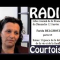 Urgence de la défense de la vie et de la famille : Farida Belghoul sur Radio Courtoisie (12 janvier 2014)