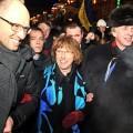 Catherine Asthon, la femme politique la plus payée au monde,  Haut Représentant de l'Union pour les affaires étrangères et la politique de sécurité, venue attiser le feu place Maidan en décembre 2013