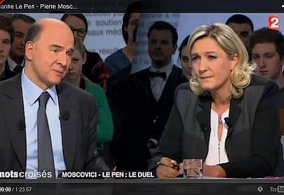Moscovici, menteur ou incompétent face à Marine le Pen ?