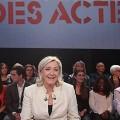 Marine le Pen lors de l'émission Des Paroles et Des Actes du 10 avril 2014