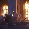 Des miliciens gouvernementaux incendient la Maison des Syndicats d'Odessa, le 2 mai... Plus de 40 morts parmi les manifestants pro-russes