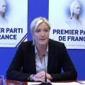 Conférence de presse : Marine le Pen analyse les résultats des élection européennes (27 mai 2014)