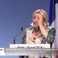 Discours de Marine Le Pen lors du meeting de Paris pour les élections européennes (18 mai 2014)