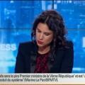 Marine Le Pen fait comme toujours face à la meute journalistique dans BFM Politique (11 mai 2014)