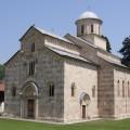 L'église du monastère de Visoki Decani, classé au patrimoine mondial de l'UNESCO, menacé par les albanais musulmans de l'UCK