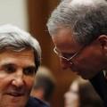 Robert Ford, tête de pont de la CIA dans le monde arabe. Ici avec John Kerry