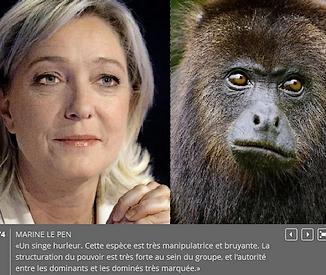 Le Pen le singe hurleur