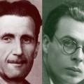 Orwell et Huxley, les deux visionnaires qui avaient anticipé le monde totalitaire et cauchemardesque dans lequel nous sommes désormais bel et bien entrés...
