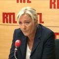 Marine Le Pen lors de son entrevue du 1er août sur RTL