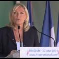 Discours politique de rentrée de Marine le Pen à Brachay (30 août 2014)