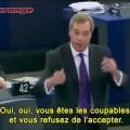 Nigel Farage à l'Assemblée Européenne évoque la crise ukrainienne, la russophobie ambiante et la responsabilité de l'UE (16 septembre 2014)