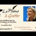 Marine LE PEN invitée du Brunch Politique de Sud Radio – 19 octobre 2014