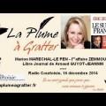 Marion Maréchal-Le Pen et « l'affaire Zemmour » – Journal de Arnaud-Guyot-Jannin (16 décembre 2014)