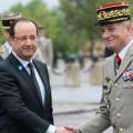 François Hollande et le général Benoît Puga, son chef d'état-major