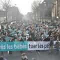 La marche pour la vie du 25 janvier. Quelques centaines de personne, selon I-Télé...