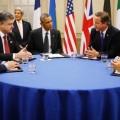 Porochenko, Obama, erkel, Cameron, Hollande... une image qui en dit plus qu'un long discours