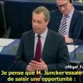 Nigel Farage fustige Juncker et l'impérialisme occidental au Parlement européen (11 mars 2015)