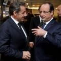 Hollande et Sarkozy, Sarkozy et Hollande l'un coupe les oignons et l'autre qui pleure