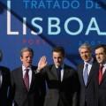 Sarkozy à Lisbonne avec Kouchner et Fillon