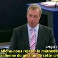 Nigel Farage : «le plan d'accueil des exilés est une menace directe pour notre civilisation» (30 avril 2015)