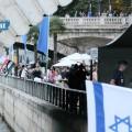 Manifestation pro-palestinienne contre propagande pro-isralélienne: Gaza Plage s'invite à Tel-Aviv sur Seine ! (14 août 2015)