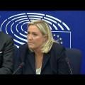 Crise migratoire et submersion de l'Europe : conférence de presse de Marine Le Pen au Parlement européen (09 septembre 2015)