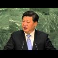 Vers un monde multipolaire ? XI Jinping (Chine) lors du débat 2015 de l'Assemblée générale de l'ONU (septembre 2015)