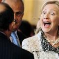 Hillary Clinton avec des membres du groupe de contact libyen à Rome en 2011
