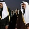 Hamad, émir du Qatar, et Abdallah, roi d'Arabie, en 2012